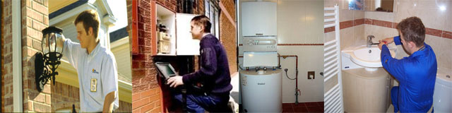 All electrical, water ans gas services; plumbing and certification