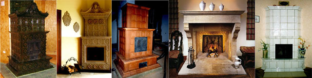 Stoves and fireplaces restoration designing and installation